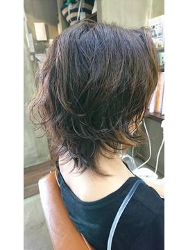 クセ毛風ショート/ウルフ/ボディパーマ