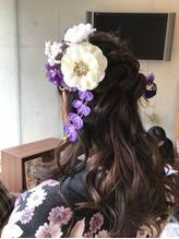 ルーズ巻き髪ハーフアップ.44