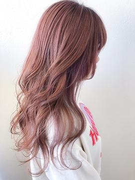 【春カラー】ハイトーン、ピンクアッシュ、透明感、外国人風ヘア