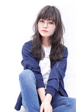 【メガネ女子×こなれロング】