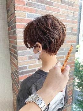 前髪なし絶壁解消大人ショート
