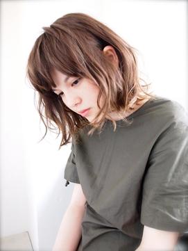 【Lepes】外国人風ゆるふわパーマ☆切りっぱなし外ハネ小