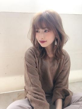 くびれカット【ピンクベージュ、モテ髪、恵比寿、渋谷、ボブルフ
