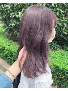 〈ワンブリーチで叶う透明感ヘア〉Purple Brown by Junko