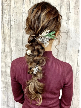 ★結婚式、パーティーにっ『絶妙可愛いふわルーズ編みおろし♪』