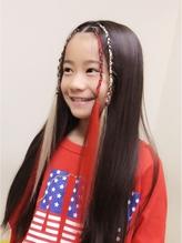 前髪ブレイズ☆ キッズダンスヘア♪ キッズ.34