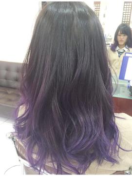 毛先��染��楽�む☆紫�カラートリートメント☆