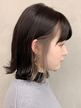 【Blanc/梅田】インナーカラーホワイトベージュ