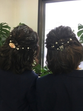 ハーフアップ☆髪飾り☆.0