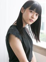 【SOCO】伸ばしかけ◎黒髪厚めバング☆クラシカルブラントカット .60