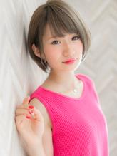 【ROMA】ハイトーン3Dカラーグレージュナチュラル丸みショート.25