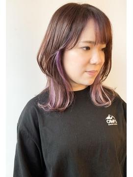 【morio原宿】パールピンクインナーカラー
