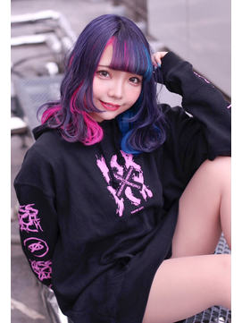 ☆CAPSULE☆パープル&インナーカラー インナーツートンカラー