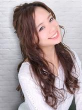 ★モテハーフアレンジ★ ハーフアップ.4