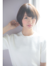 【銀座  佐藤真希】襟足すっきり前下がりショートボブ 前髪パーマ.51
