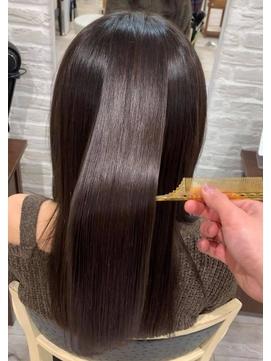 髪質改善トリートメント サイエンスアクア  アッシュブラウン