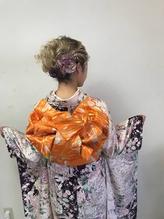 特別な日は上質な着物が際立つヘアスタイルで。六本木R-BLUE.59