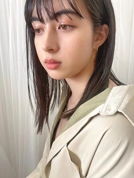 Emma ecole マスク時期の湿気対策◎前髪ストレート by.高橋
