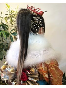 成人式ヘア☆ハイポニースタイル