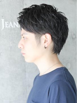 アップバング モテ黒髪ショート☆ツーブロック☆ビジネスOK