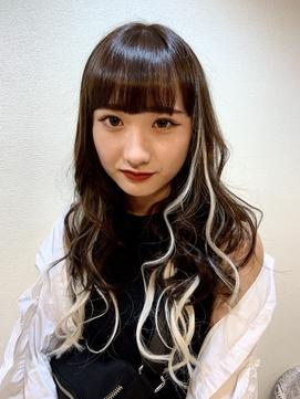 【e.ll Queen】ハーフ風バレイヤージュ,ハイライト,エクステ