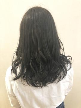 暗髪透明感カラー