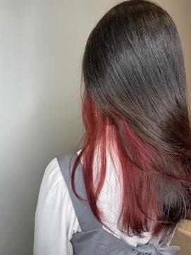 インナーカラー 赤