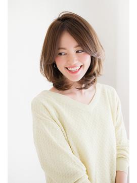 【東 純平】大人かわいい 小顔 ひし形ミディ