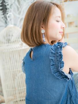 ■ツヤ感ピンクカラー耳かけグラボブ越谷30代40代50代11-7★!
