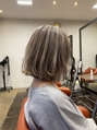 【#アイスグレージュ】×切りっぱなしヘア