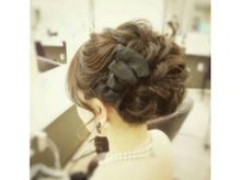 ドレスに合う本格的なヘアセットも技術力があるからお任せ♪