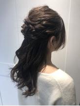 ふわふわハーフアップ♪荻窪 美容室 卒業式袴着付け.47
