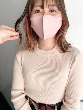 *【SUN】ピンクアッシュにピンクのインナーカラー◎細川