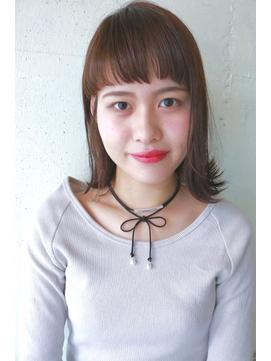 切りっぱなしボブ☆外はね☆セミウエット☆オン眉ワイドバング☆