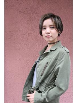 女らしい大人のショート☆着物/クールショート/ピンクベージュ