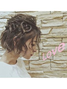 武蔵新城 LOVE ヘアアレンジエアウェーブカール 姫カット
