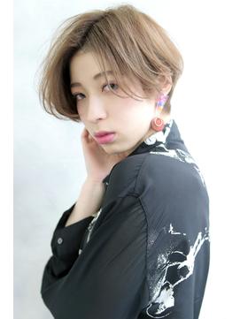 【Blanc/福岡天神】センターパート_ショートボブ