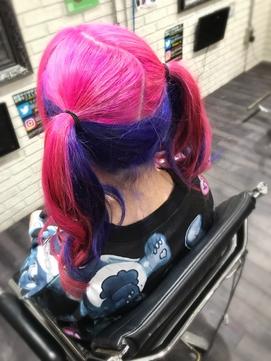 ピンク×青紫ツインテちゃんTRICKstyle!