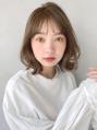 """外ハネくびれイヤリングカラーイメチェンラベンダーカラー黒髪"""""""