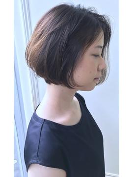【morio下通】大人かわいいシンプルボブ