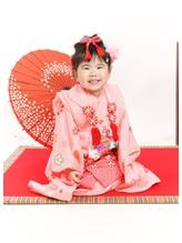 七五三(3歳)日本髪風ヘアセット&着付け&レンタル衣裳&撮影.35