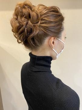 二次会のヘアアレンジに☆アップスタイル/結婚式 髪型 30代