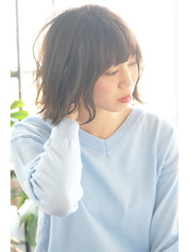 【LOHAS 川越】タンバルモリ☆切りっぱなしボブ 正面写真
