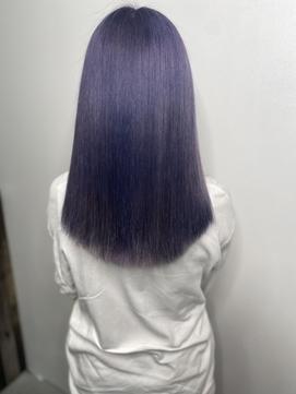 #派手髪 #ハイトーン #紫カラー