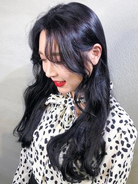 モテる横髪に!韓国風後れ毛レイヤー×色気ブルーバイオレット