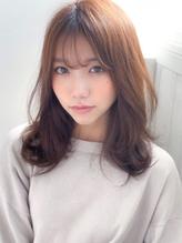 《Agu hair》シースルーバング色っぽふんわりセミディ.4