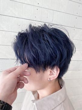 【LUNON fieju】メンズカット×ブルーブラック