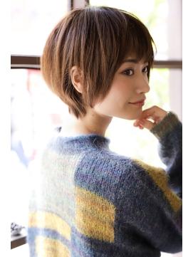 【+~ing】イルミナ3Dカラー丸みショートボブ【小川晏奈】