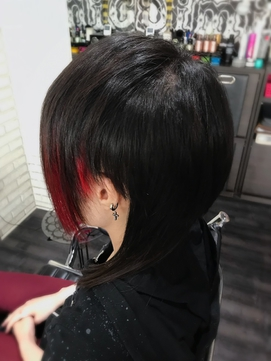 V系ウルフカット black×red TRICKstyle!