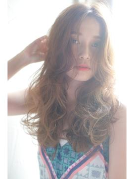 長め前髪でセクシー☆小顔なエアウェーブ〔Belle原宿〕